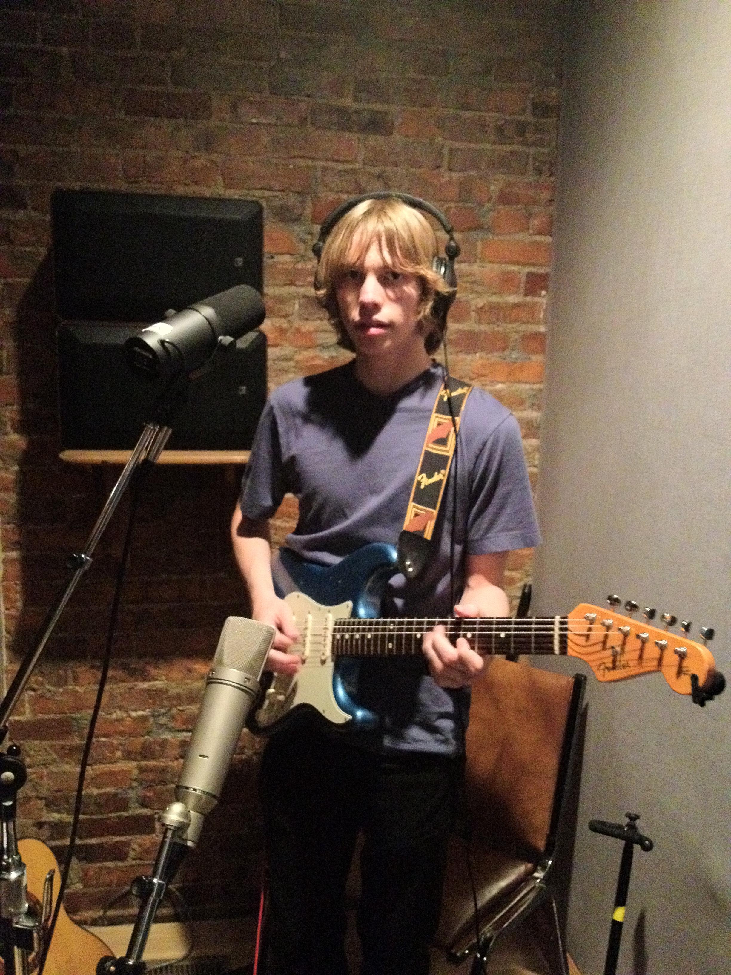 Brian in recording kiosk, House of David.