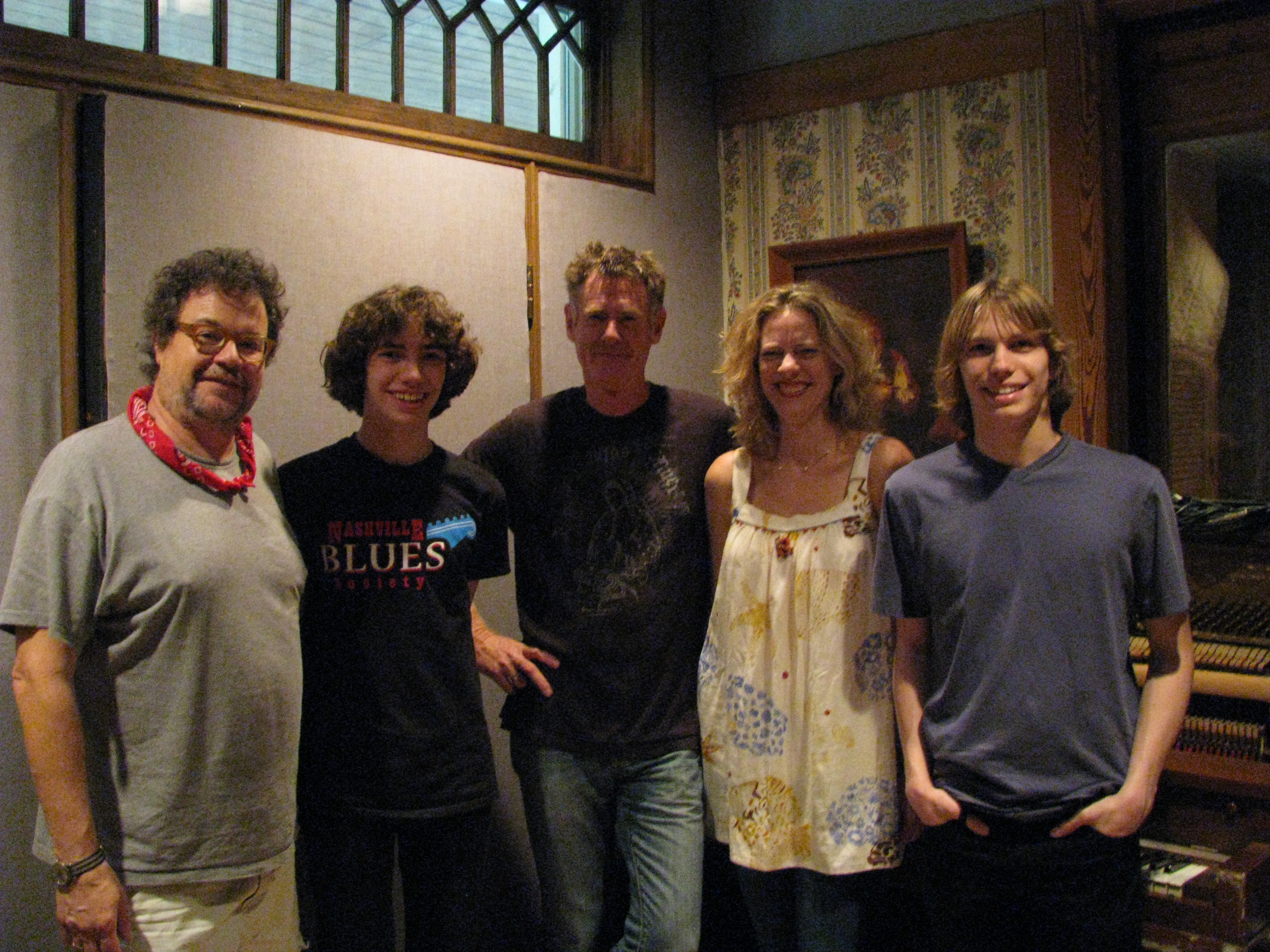 L-R: Paul Griffith, Jeff, Bones Hillman, Jen Gunderman and Brian after a day of recording.