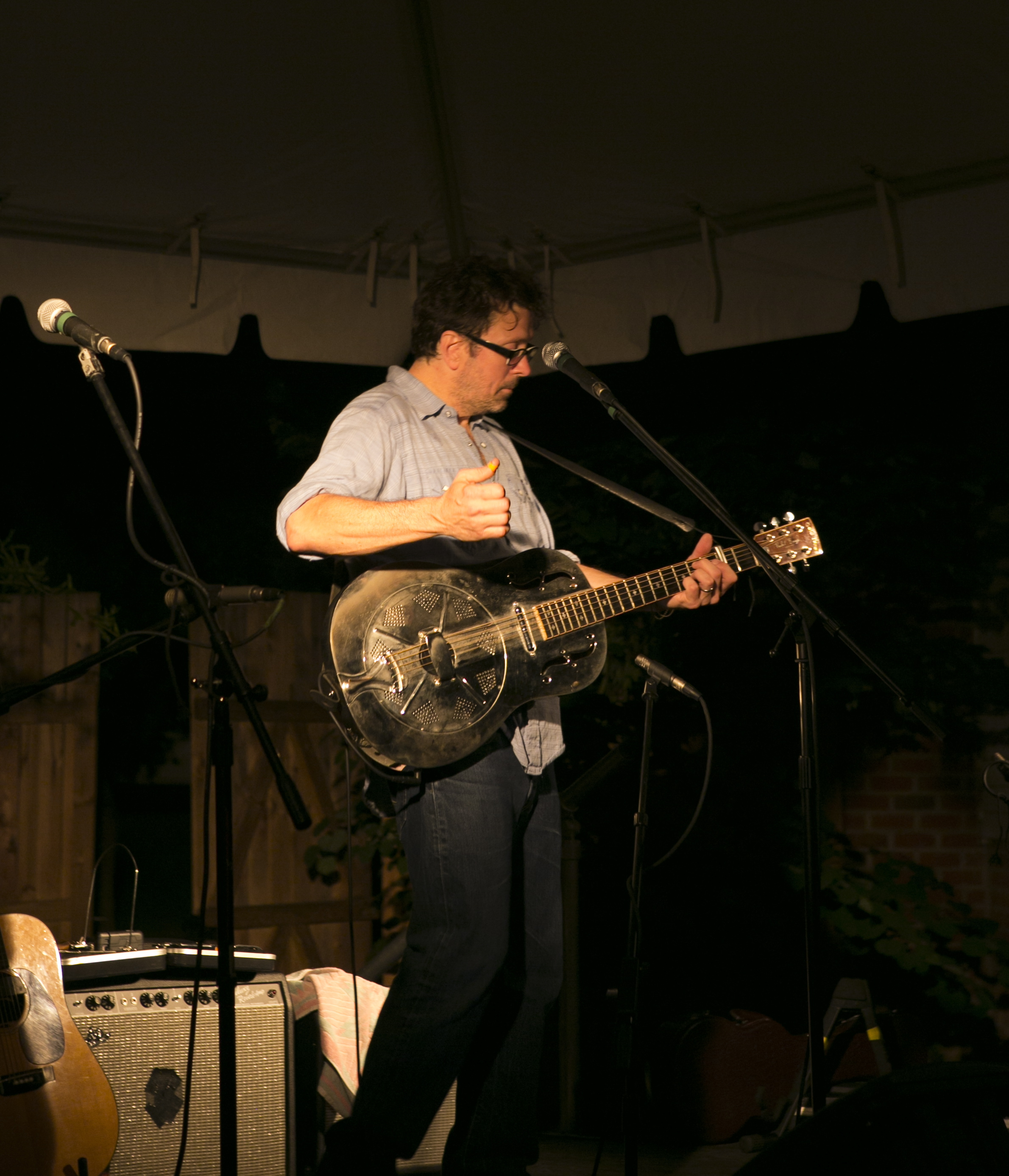 Will rockin' the resonator solo, 2012. Photo by McTell Brothers.