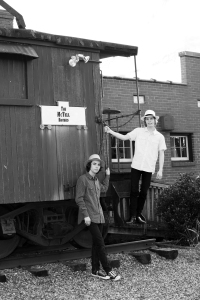 The McTell Brothers Caboose Photo B&W